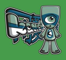 Cyclops Mascot Tag One Piece - Short Sleeve