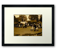scooter rally  Framed Print