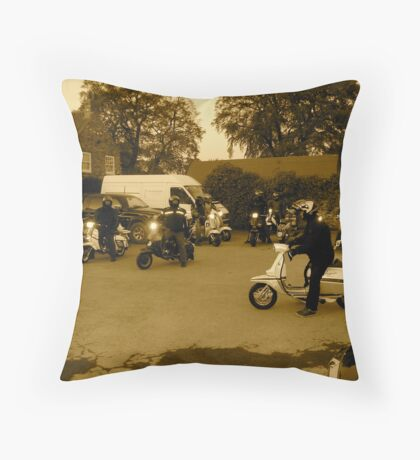 scooter rally  Throw Pillow