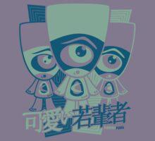 Cyclops Mascot Stencil Kids Tee