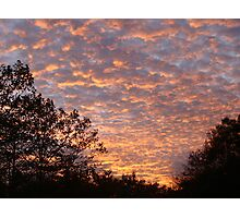October clouds at sunset Photographic Print