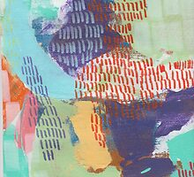 Summer Sun - Textured Abstraction by angelique devitte