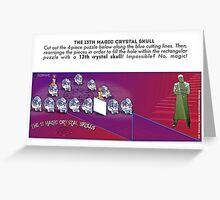 The 13th Magic Crystal Skull Greeting Card