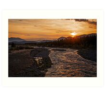 Solstice Sunrise on Quill Creek Art Print