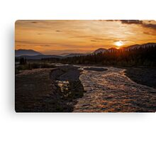 Solstice Sunrise on Quill Creek Canvas Print