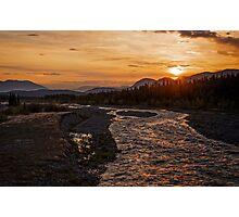 Solstice Sunrise on Quill Creek Photographic Print