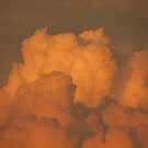 Burting In Orange Clouds by Linda Miller Gesualdo