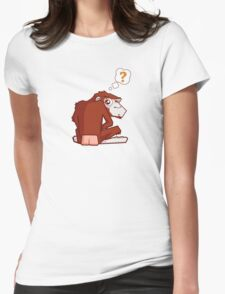 Monkey WTF??? Womens Fitted T-Shirt