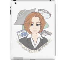 all lies lead to the truth iPad Case/Skin