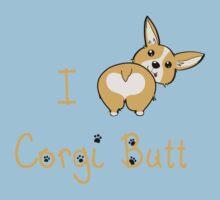 I Heart Corgi Butt Kids Tee