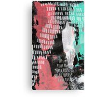 Midnight Garden - Textured Abstraction Canvas Print