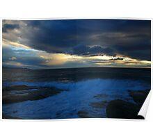 stormy tasman sea. eastcoast tasmania Poster