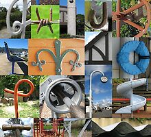 Alphabet Collage from New Zealand by mackybunch