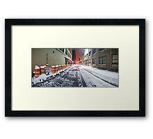 SIDEWALK CLOSED - Rochester NY Framed Print