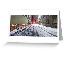 SIDEWALK CLOSED - Rochester NY Greeting Card