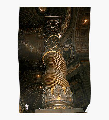 Bronze Columns, St. Peters Poster