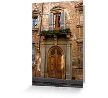 Delicious Doors! Greeting Card