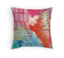 Wild and Free - Textured Abstraction Throw Pillow