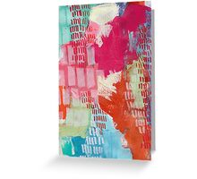 Wild and Free - Textured Abstraction Greeting Card