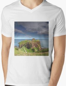 Dunnottar Castle Mens V-Neck T-Shirt