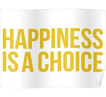 Yellow Happiness Poster