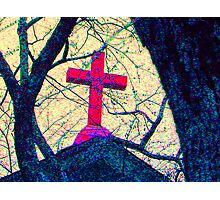 The Stained Cross Photographic Print