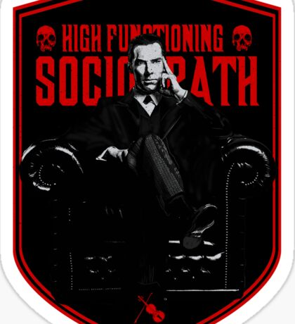 High Functioning Sociopath Sticker