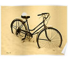 Snow Bicycle Poster