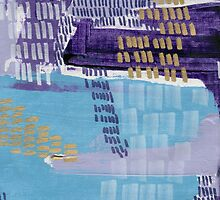 Grape Jelly - Textured Abstraction by angelique devitte