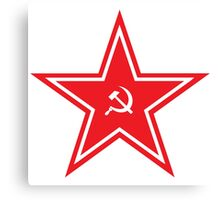 CCCP - Hammer and Sickle - Red Army Star Canvas Print