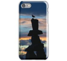 English Bay Inuksuk at Sunset iPhone Case/Skin