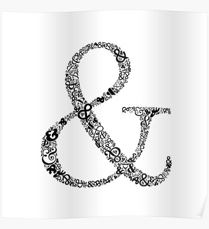 Ampersand Prints, Cards and Posters Poster