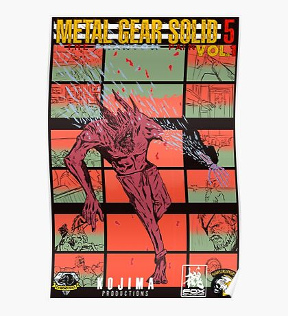 Fake Metal Gear Solid V Graphic Novel cover Poster