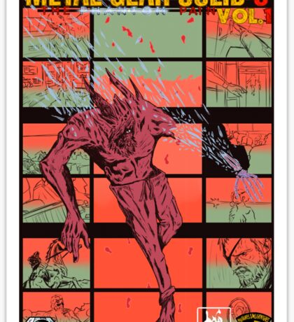 Fake Metal Gear Solid V Graphic Novel cover Sticker