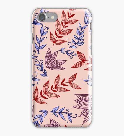 Peachy Leaves iPhone Case/Skin