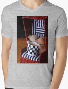 Bear's Sunday Coffee Time  Mens V-Neck T-Shirt