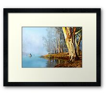 Into the Misty River Morn Framed Print