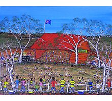 Aussie Gozzie Footy Club; Original Australian Acrylic Painting; SOLD  Photographic Print