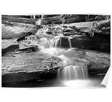 Black and white Falls Poster