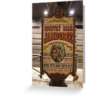 Country Bear Jamboree Greeting Card