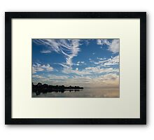 Of Feathery Clouds and Tranquil Mornings Framed Print