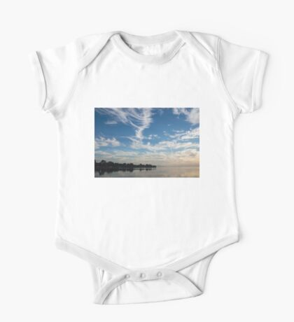 Of Feathery Clouds and Tranquil Mornings One Piece - Short Sleeve