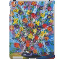 Spring has Sprung, abstract floral bouquet, daffodils, spring flowers iPad Case/Skin
