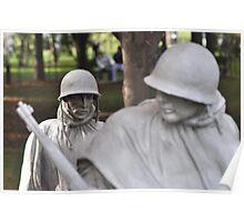 Korean Memorial - Washington D C  Plate # 01 Poster