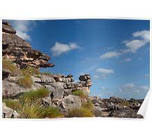 Impressive rock scenery Poster