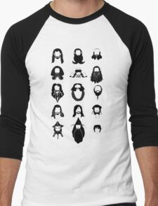 The Bearded Company Black and White Men's Baseball ¾ T-Shirt