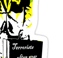 Terrorists often wear suits (BP edition) Sticker