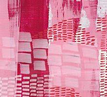 Red Tide - Textured Abstraction by angelique devitte