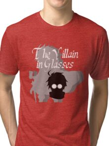 The Villain in Glasses Tri-blend T-Shirt