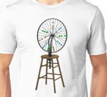 Redesigning the Wheel (After Duchamp) Unisex T-Shirt